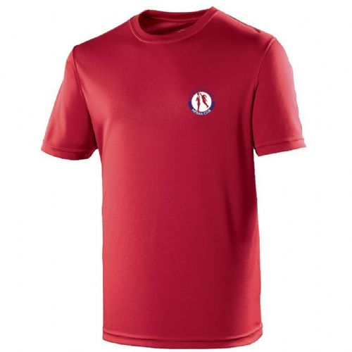 Wodson Park Netball Red Breathable Training T-Shirt Junior